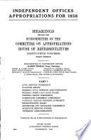 Independent Offices Appropriations for 1958