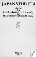 Japanstudien. Band 13/2001