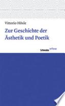 Zur Geschichte der Ästhetik und Poetik