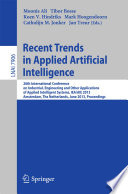 Recent Trends in Applied Artificial Intelligence The 26th International Conference On Industrial Engineering And