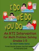 I Do We Do You Do Math Problem Solving Grades 1 5 Perfect