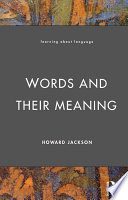 Words And Their Meaning