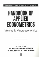Handbook of Applied Econometrics Volume I  Macroeconomics