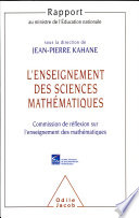 illustration L'enseignement des sciences mathématiques, rapport au Ministre de l'Éducation nationale