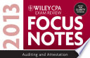 Wiley CPA Examination Review 2013 Focus Notes  Auditing and Attestation