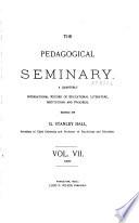 The Pedagogical Seminary