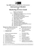 The     American Marketing Association International Member   Marketing Services Guide