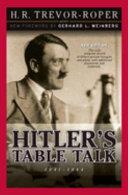 Hitler s Table Talk 1941 1944