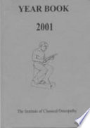 Institute Of Classical Osteopathy Year Book 2001