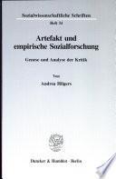 Artefakt und empirische Sozialforschung