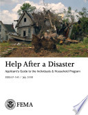 Help After a Disaster Applicant   s Guide to the Individuals   Household Program