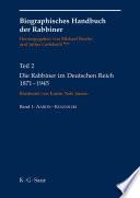 Die Rabbiner im Deutschen Reich 1871-1945