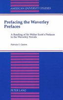 Prefacing the Waverley Prefaces