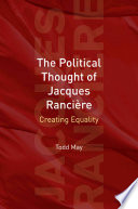 The Political Thought of Jacques Rancière