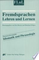 Idiomatik und Phraseologie