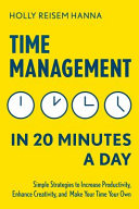Time Management in 20 Minutes a Day Pdf/ePub eBook