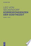 Korrespondenzen der Goethezeit