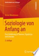 Soziologie von Anfang an