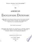 The American Encyclop Dic Dictionary book