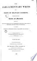 The Parliament Writs and Writs of Millitary  Summons