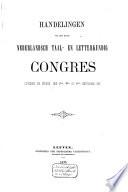 Handelingen van het Nederlandsch taal- en letterkundig congres