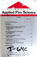 Journal of Applied Fire Science