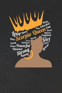 Scorpio Notebook Scorpio Queen Zodiac Diary Horoscope Journal Scorpio Gifts For Her