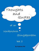 Thoughts and Quotes of an Unknown Singaporean