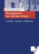 Management von Ad hoc Krisen