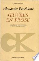 Oeuvres en prose