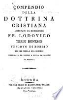 Compendio della Dottrina Cristiana assegnato da Monsignore Fr. Lodovico Terin Bonesio Vescovo di Bobbio