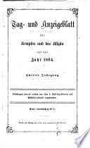 Tag- und Anzeigeblatt für Kempten und das Allgäu