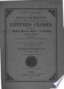 Documents relatifs aux Iles de La Manche tir  s des r  les des lettres closes conserv  s au  Public record office     Londres