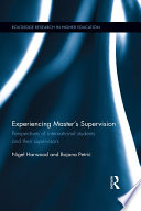 Experiencing Master   s Supervision