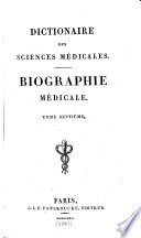 Biographie Medicale. Tome Septieme