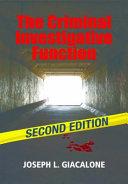 The Criminal Investigative Function