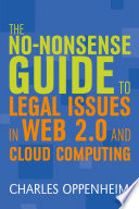 The No Nonsense Guide To Legal Issues In Web 2 0 And Cloud Computing book
