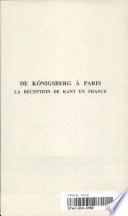 illustration du livre De Königsberg à Paris
