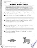 Informational Text Vocabulary Practice