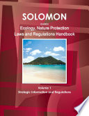 Solomon Islands Ecology   Nature Protection Laws and Regulation Handbook