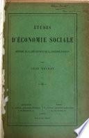 Études D'économie Sociale (théorie de la Répartition de la Richesse Sociale)