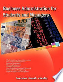 Business Administration for Students & Managers