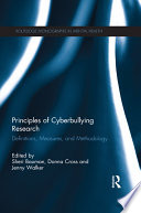 Principles of Cyberbullying Research
