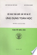 The Second National Conference on Applications of Mathematics, Dec-2005 - Hanoi