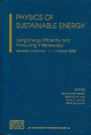 Physics of sustainable energy