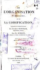 illustration De l'organisation judiciaire et de la codification