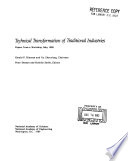 Technical Transformation Of Traditional Industries