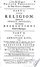 Thoughts on religion with practical resolutions