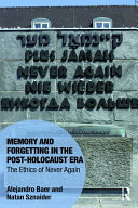 download ebook memory and forgetting in the post-holocaust era pdf epub