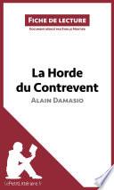 La Horde du Contrevent d Alain Damasio  Fiche de lecture